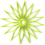 Spice Ratchet Green Silicone Blossom Trivet