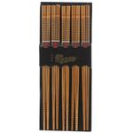 Helen Chen Asian Kitchen Silk-Wrapped Caramelized Bamboo Chopsticks, 5 Pair
