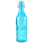 Complete Kitchen Blue Glass Dimple Bottle Bail