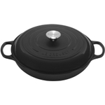 Le Creuset Signature Matte Black Enameled Cast Iron Braiser, 1.5 Quart