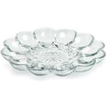 Anchor Hocking Presence Glass Egg Platter
