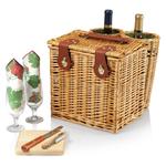 Picnic Time Pine Green With Nouveau Grape Vino Picnic Basket
