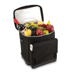 Picnic Time Black And Silver Six Bottle Insulated Wine Tote