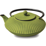 Old Dutch Fidelity Moss Green Cast Iron Teapot, 27 Ounce