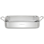 Cuisinart Chef's Classic Stainless Steel 14 x 10 Inch Lasagna Pan with Roasting Rack