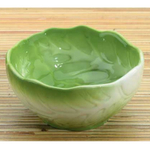 Home Gourmet Collection Ceramic Green Cabbage Vegetable Dipping Bowls, Set of 2