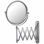 Mirror Image Chrome Extension Arm 5x Magnifying Wall Mirror