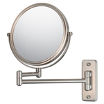 Mirror Image Brushed Nickel Double-Sided 5x Magnifying Pivot Arm Wall Mirror