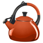 Le Creuset Flame Enameled Steel 1.9 Quart Oolong Tea Kettle