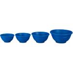 Le Creuset Marseille Blue Silicone 4 Piece Prep Bowl Set