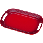 Le Creuset Cherry Stoneware Oval Serving Platter, 14 x 9.75 Inch