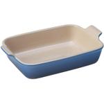 Le Creuset Heritage Marseille Blue Stoneware Rectangular Dish, 2.5 Quart