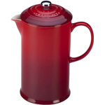 Le Creuset Cherry Stoneware 27 Ounce French Press Coffee Maker