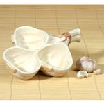 Gourmet Home Collection Ceramic Garlic Condiment Bowl