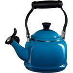 Le Creuset Marseille Blue Enamel On Steel Demi Tea Kettle, 1.25 Quart