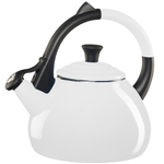 Le Creuset White Enameled Steel 1.9 Quart Oolong Tea Kettle