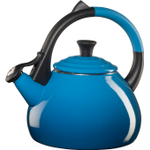 Le Creuset Marseille Blue Enameled Steel Oolong Tea Kettle, 1.9 Quart