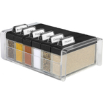 Frieling Black and Clear Spice Organizer Box with Bottles