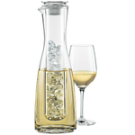 Wine Enthusiast Two Piece Glass Chilling Carafe, 33 Ounce