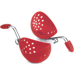 Cuisipro Red Silicone Egg Poacher, Set of 2