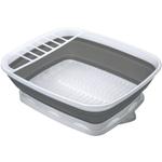 Progressive International Grey and White Collapsible Dish Rack