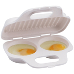 Progressive International White Microwave Egg Poacher