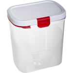Progressive International Red and White Flour Keeper with Built in Leveler