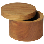 Lamson & Goodnow Maple Wood Salt and Herb Box with Swivel Lid