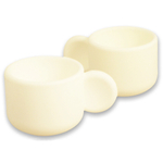 Make My Day White Silicone Egg Cuppa, Set of 2