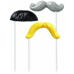 Wilton Mustache Fun Face Lollipop Molds
