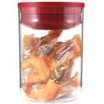 Click Clack Clear Pantry Canister with Red Lid, 1 Quart