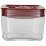 Click Clack Cube Food Storage Container with Red Lid, 1 Quart