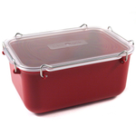 Click Clack Red Locking Everyday Storage Container, 2 Quart
