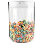 Click Clack Clear Pantry Canister with White Lid, 4.2 Quart