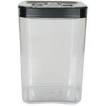 Click Clack Cube Food Storage Container with Stainless Steel Lid, 4.5 Quart