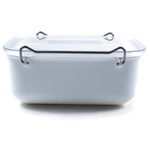 Click Clack White Locking Everyday Storage Container, 0.9 Quart