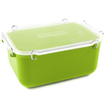 Click Clack Green Locking Everyday Storage Container, 2 Quart