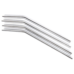 Onyx 18/8 Stainless Steel 4 Piece Medium Straw Set