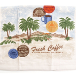 Fresh Coffee Tropical Palm Trees Kitchen Towel, 18 x 26 Inch