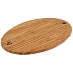 Shun Oval Bamboo Cutting Board, 14 Inch