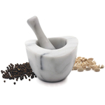 RSVP White Marble Mortar and Pestle Set