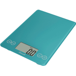 Escali Arti Peacock Blue Glass Digital Kitchen Scale, 15 Pound