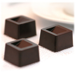 Silikomart Stampo Brown Silicone Cubo Chocolate Mold, 15 Piece