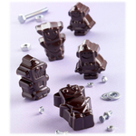 Silikomart Stampo Brown Silicone Robochoc Chocolate Mold, 12 Piece