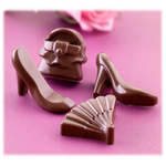 Silikomart Stampo Brown Silicone Fashion Chocolate Mold, 14 Piece