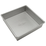 USA Pan Aluminized Steel Square Cake Pan, 8 Inch