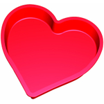 Lekue Red Silicone Heart Cake Mold