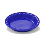 Chantal Easy as Pie Indigo Blue Stoneware Pie Pan, 9 Inch
