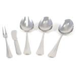 WMF Baguette Stainless Steel 5 Piece Flatware Place Setting, Service for 1