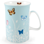 Ashdene Tranquil Butterfly Sea Foam Bone China Mug